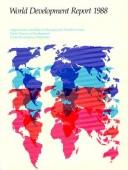 Cover of: World Development Report 1988 (World Bank Publication Series)