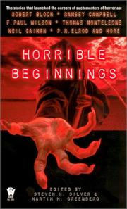 Cover of: Horrible beginnings |