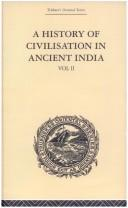 Cover of: A History of Civilisation in Ancient India