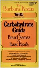 Cover of: Barbara Kraus' Carbohydrate Guide 1985