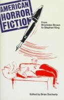 Cover of: American Horror Fiction | Brian Docherty