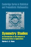 Cover of: Symmetry Studies | Marlos A. G. Viana