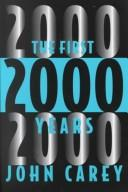 Cover of: The First 2000 Years