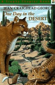 Cover of: One Day in the Desert (Trophy Chapter Book)