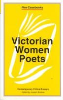 Cover of: Victorian Women Poets