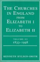 Cover of: The Churches in England from Elizabeth I to Elizabeth II: Volume Iii