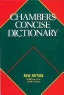 Cover of: Chambers Concise Dictionary Thumb Indexed | Chambers