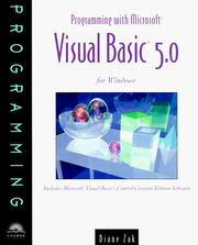 Cover of: Programming With Microsoft Visual Basic 5.0 for Windows | Diane Zak