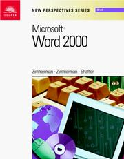 Cover of: New Perspectives on Microsoft Word 2000 - Brief (New Perspectives Series) | S. Scott Zimmerman