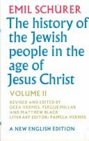 Cover of: The History of the Jewish People in the Age of Jesus Christ (175 B.C.-a.D. 135 Part 1) | Emil SchuМ€rer