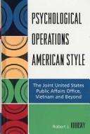 Cover of: Psychological Operations American Style