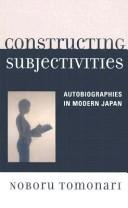 Cover of: Constructing Subjectivities