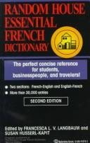 Cover of: Essential French Dictionary | Francesca Langbaum
