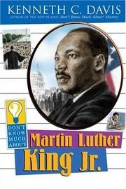 Cover of: Don't know much about Martin Luther King, Jr