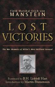 Cover of: Lost victories | Erich von Manstein