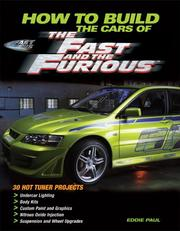 Cover of: How To Build the Cars of The Fast and the Furious