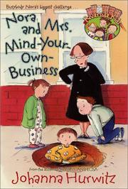 Cover of: Nora and Mrs. Mind-Your-Own-Business (Riverside Kids)