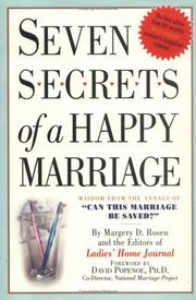 Cover of: Seven Secrets of a Happy Marriage | Margery D. Rosen, Editors of Ladies Home Journal, David Popenoe