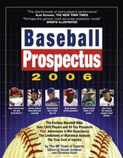 Cover of: Baseball Prospectus 2006 | Baseball Prospectus Team of Experts