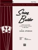 Cover of: String Builder, Book 3 (Belwin Course for Strings) | Samuel Applebaum
