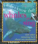 Cover of: Whales Can Sing (I Didn