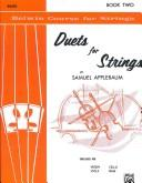 Cover of: Duets for Strings for Bass, Book II | Samuel Applebaum