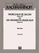 Cover of: Rachmaninoff Morceaux