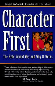 Cover of: Character first