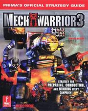 Cover of: MechWarrior 3: Prima's Official Strategy Guide