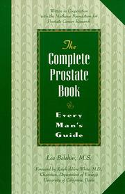 Cover of: The complete prostate book