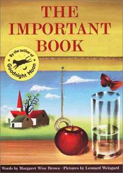 Cover of: The Important Book