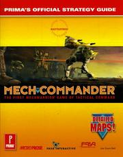 Cover of: MechCommander: Prima's Official Strategy Guide