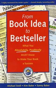 Cover of: From book idea to bestseller