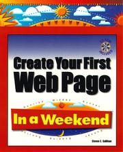 Cover of: Create your first Web Page in a weekend