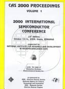 Cover of: 2000 International Semiconductor Conference
