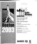 Cover of: 2003 Rawcon Radio & Wireless Conference: Boston, Massachusetts, USA, August 10-13, 2003