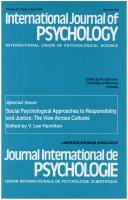 Cover of: Social psychological approaches to responsibility and justice |