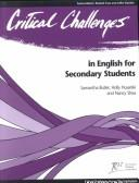 Cover of: Critical challenges in English for secondary students |