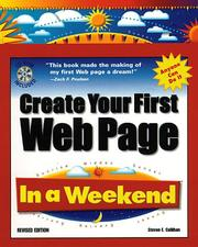 Cover of: Create your first Web page