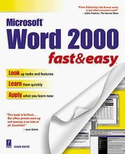 Cover of: Word 2000 fast & easy