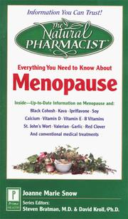 Cover of: Everything you need to know about Menopause
