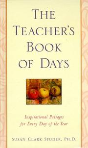 Cover of: The teacher's book of days