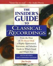 Cover of: The insider's guide to classical recordings