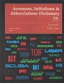 Cover of: Acronyms, Initialisms & Abbreviations Dictionary/With Supplement (Acronyms, Initialisms & Abbreviations Dictionary, 29th ed) | Mary Rose Bonk