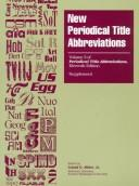 Cover of: New Periodical Title Abbreviations | Gale Group