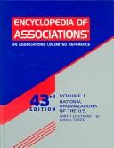 Cover of: Encyclopedia of Associations: National Organizations of  The U.S. (Encyclopedia of Associations, Vol 1: National Organizations of the Us) | Kristy Swartout