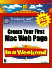 Cover of: Create your first Mac Web page in a weekend