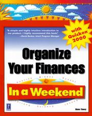 Cover of: Organize your finances with Quicken 2000 in a weekend