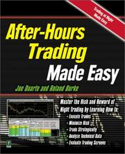 Cover of: After Hours Trading Made Easy | Joe Md Duarte