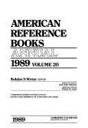 Cover of: American Reference Books Annual 1989 (American Reference Books Annual)